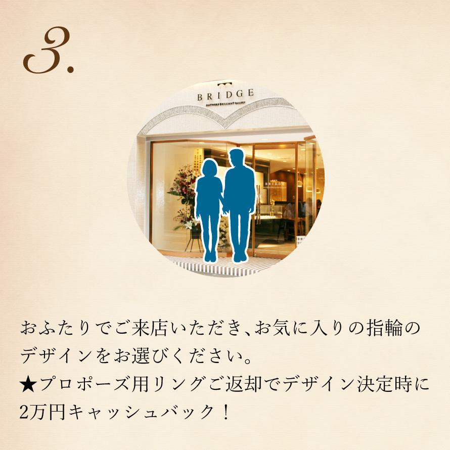 サプライズプロポーズをお考えの男性に大人気のダイヤモンド&プロポーズプランです。