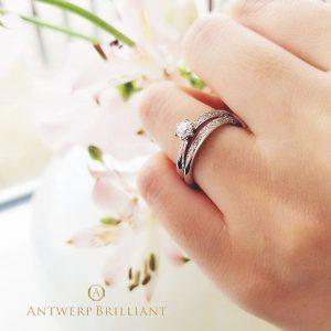 結婚指輪の専門店ブリッジ銀座はアントワープブリリアントの直営店、重ねつけが人気のキラキラダイヤモンドのギャラクシーは花嫁の指先を美しく魅せます