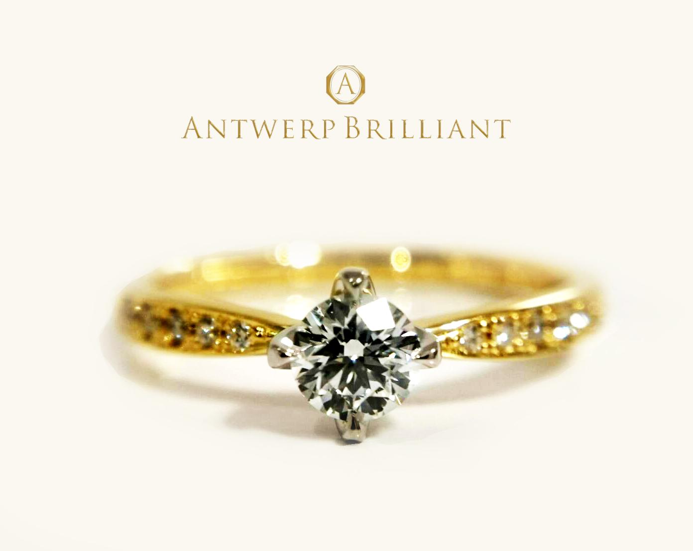 """""""Sirius""""4 claws collet Daimond side line Ring ダイヤモンドが美しい、上品で華やかなエンゲージリング♡!BRIDGE銀座で見つけた指を美しく魅せてくれるストレートの婚約指輪はこれ♪"""