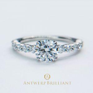 """D Line Star""0.5ct-0.7ct Diamond Harf Eternity Ring"