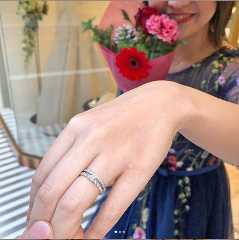 銀座 サプライズ プロポーズ プラチナ シンプル アンティーク 可愛い 婚約指輪 結婚指輪