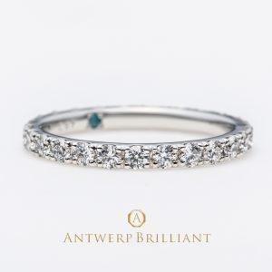 フルエタニティの婚約指輪と結婚指輪がかわいい