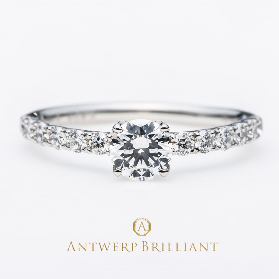 女子の憧れはダイヤモンドの美しさが眩しい華やかなハーフエタニティーの婚約指輪と結婚指輪