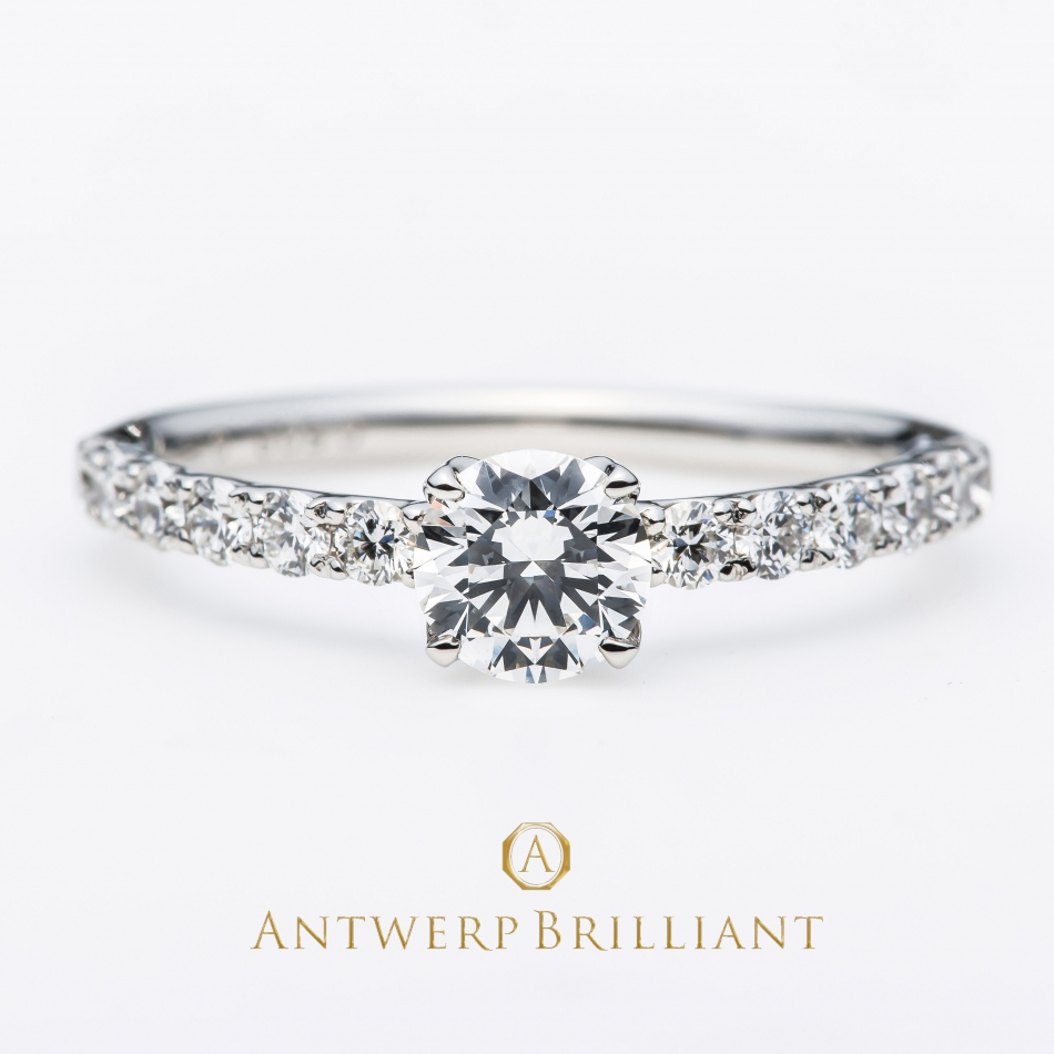 """D Line Star""Diamond Harf Eternity Ring BRIDGE銀座で選ぶ婚約指輪でサプライズプロポーズ。プロポーズにオススメのスポットはリッツカールトン東京のザ・バー 夜景が楽しめる特別空間"