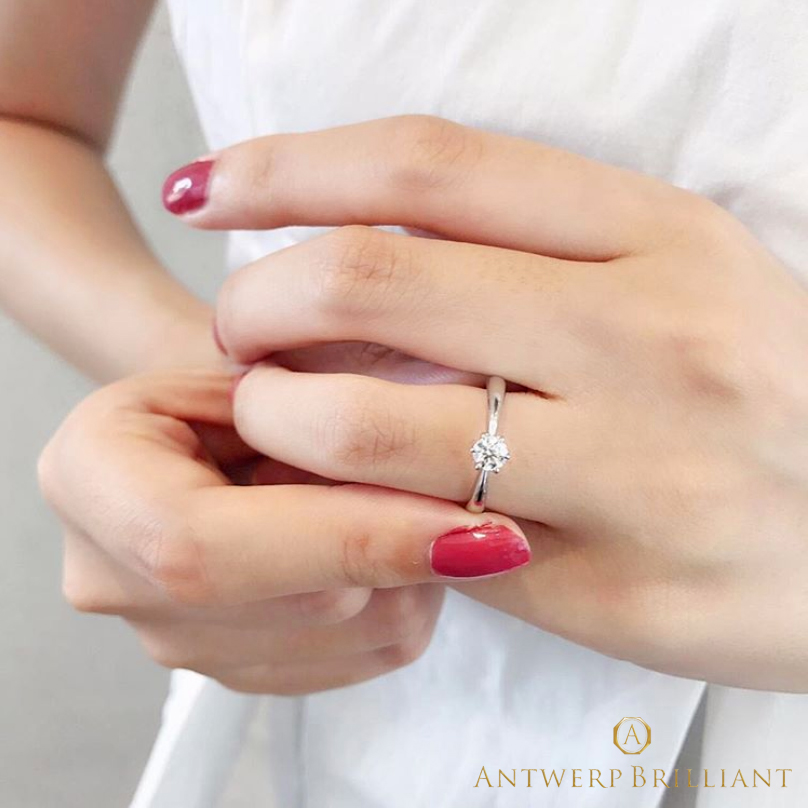 王道スタイル婚約指輪アントワープブリリアントはブリッジ銀座東京