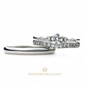 Five Star Rround&Marquise cut Diamond Line Ring Set
