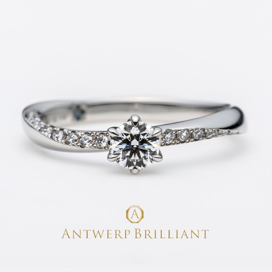 BRIDGE銀座で見つけようダイヤモンドラインが美しいシンプルで華やかな大人可愛い婚約指輪 結婚指輪