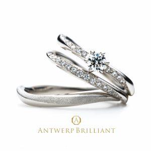 ハート&キューピッドのダイヤモンドラインが素敵で可愛いセットリング