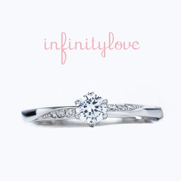 シンプルストレートのダイヤモンドラインが美しい人気の婚約指輪と結婚指輪