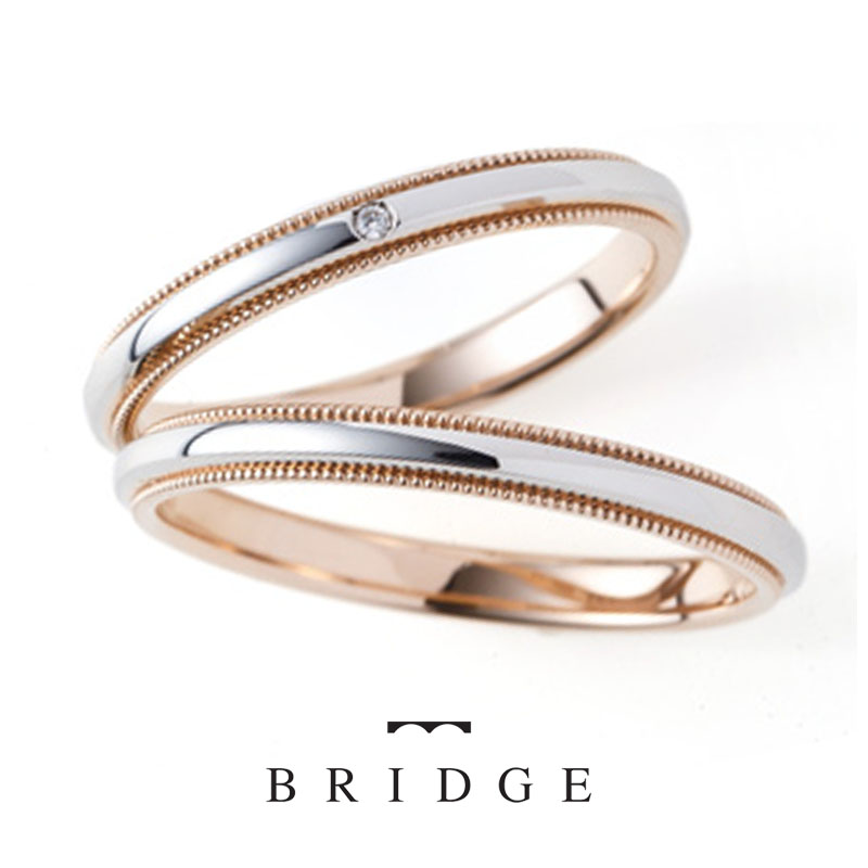 PG/PT Rice Shower ライスシャワー ブライダルリング専門店BRIDGE銀座で人気のシンプルで可愛いミルグレインの結婚指輪