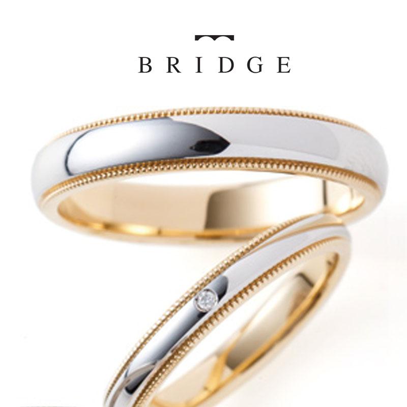 プラチナ、ゴールド、コンビネーション、様々なアレンジで楽しめるミルグレインのシンプルで飽きがこないデザインの結婚指輪