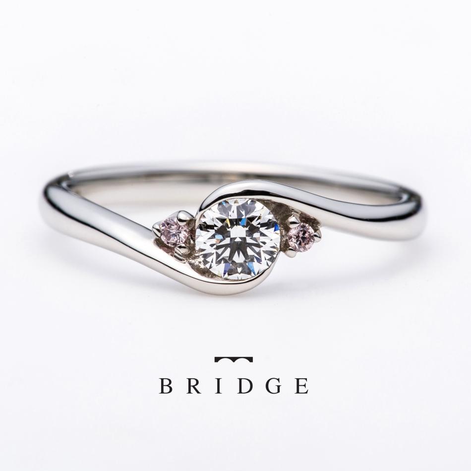 東京銀座 サプライズ プロポーズ ピンクダイヤ 可愛い婚約指輪