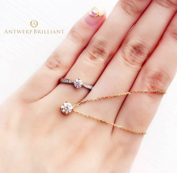シリウスはアントワープブリリアントの人気結婚指輪でキラキラしたダイヤモンドが花嫁に人気プロポーズにも最適で東京ではブリッジ銀座だけのオンリーワン