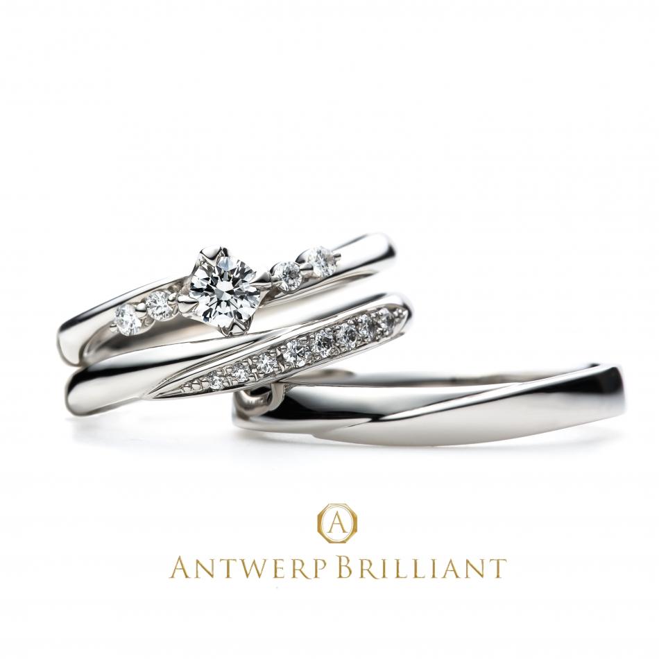 メレダイヤモンドが輝く大人可愛いエンゲージリング、マリッジリングです。