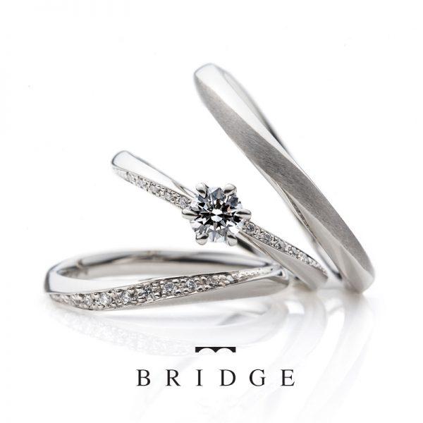 春の足音ブリッジ銀座BRIDGE結婚指輪と婚約リングの重ねつけ