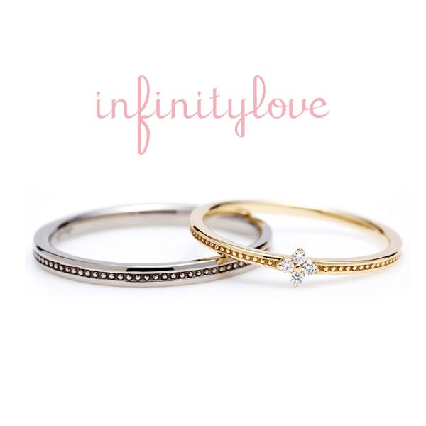 ダイヤワンポイント アンティーク ミルグレイン ゴールドリング 華奢 普段使いカジュアル結婚指輪 ブリッジ人気TOP10