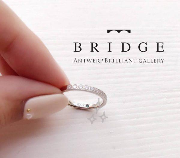 シークレットストーンをインサイドセッティングしてお気に入りのリングを作れますブリッジ銀座の結婚婚約リングにはすべて対応可能 何か青い宝石をお守りに