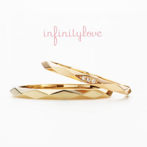 インフィニティラブの朝日はカジュアルな結婚リングシンプル華奢なラインが美しいカジュアルタイプのマリッジリングです