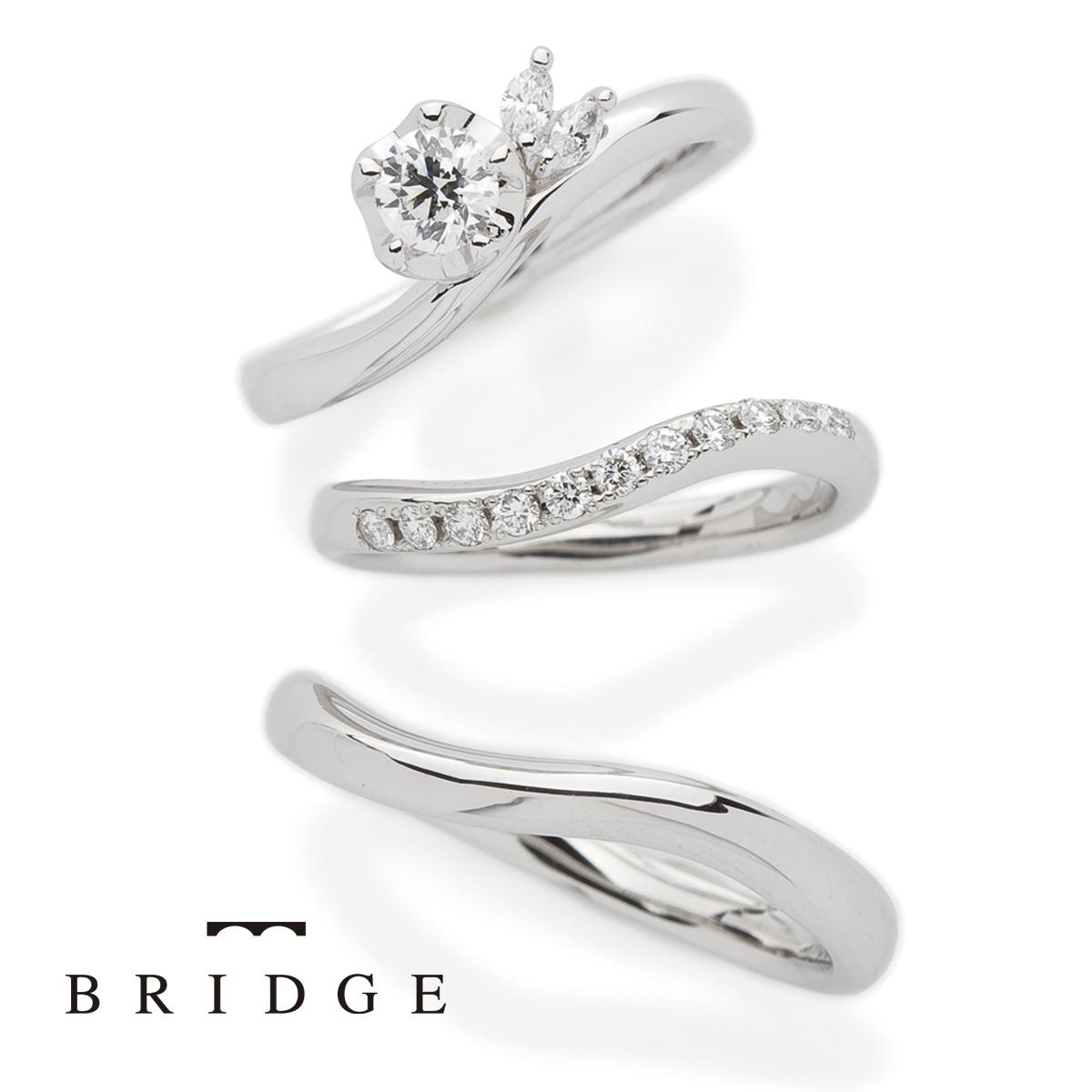 雪椿の花をモチーフにしたかわいい結婚指輪、婚約指輪をご紹介します。