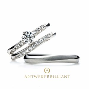 """Vega"" Side Pave Setting Diamond Ring Set"