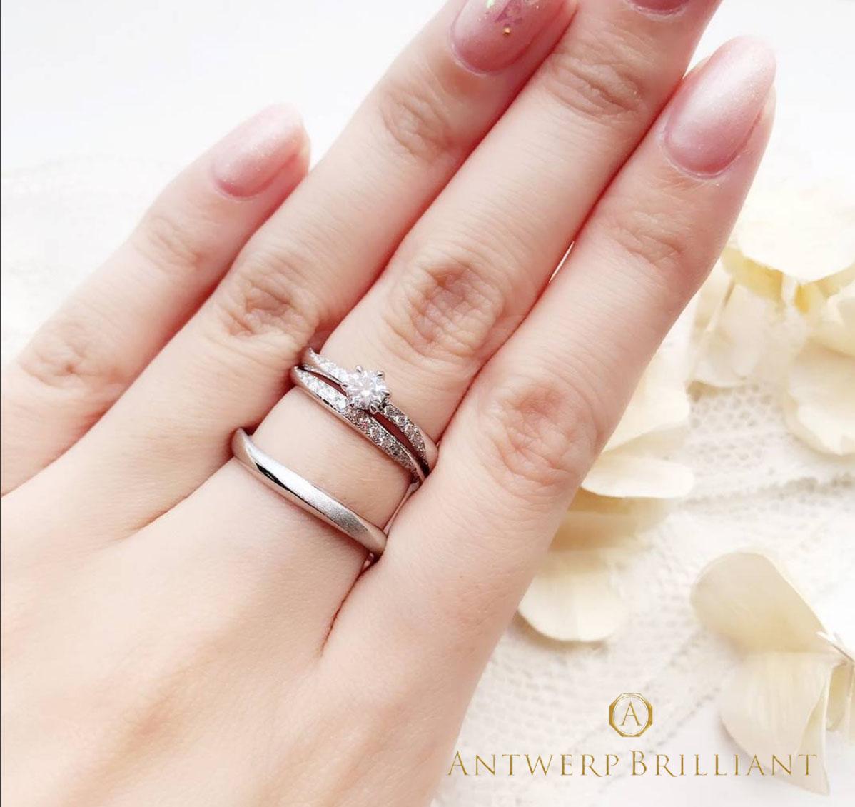 東京 銀座 サプライズ プロポーズ ダイヤモンドライン 彼女 好み 指輪 重ね付け