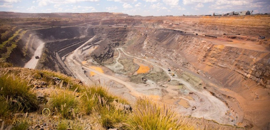 ボツワナのダイヤモンド鉱山ジュワネング