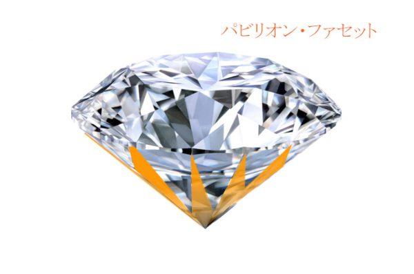 パビリオンファセットはダイヤモンドの輝きに重要な意味を与えるファセット、フィリッペンスベルト氏の手で丁寧に研磨される