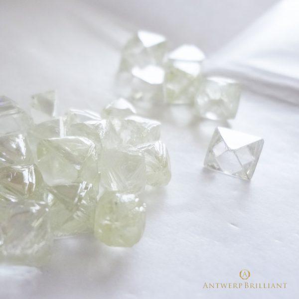 形の整った美しいダイヤモンド原石のみを使用し、最高の輝きを実現します。総産出量の0.096%という美しさを、ぜひご覧ください。