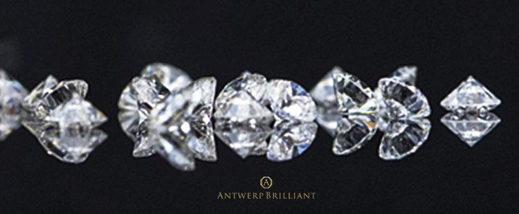 美しい輝きのAntwerpBrilliantのダイヤモンドです