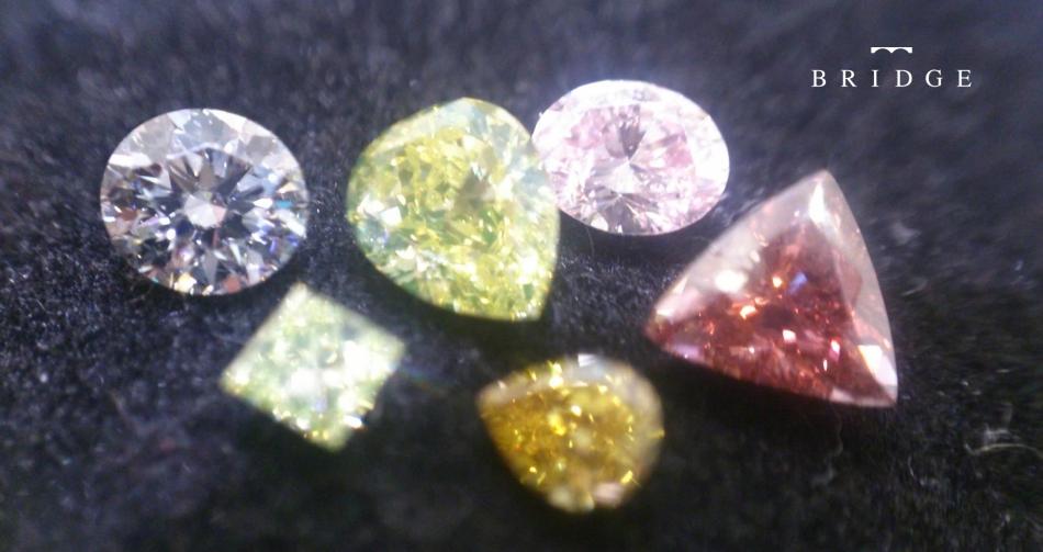 ファンシーカラーのダイヤモンド