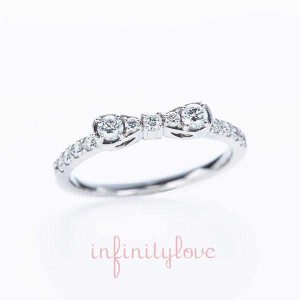 りぼん ちょうちょ 結婚指輪 婚約指輪 ブリッジ銀座 エタニティーダイヤモンド