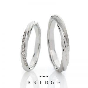名前も意味も素敵な結婚指輪永遠の絆は人気の綺麗めねじれデザイン個性的でかわいい