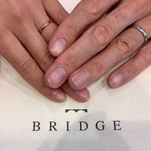 ミルグレインアレンジで二人だけの結婚指輪に♪