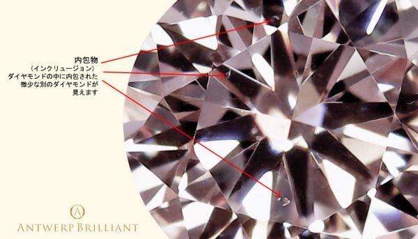 ダイヤモンドの中に本体よりも古い結晶のダイヤモンドが含まれる受け継ぐ宝石にピッタリ