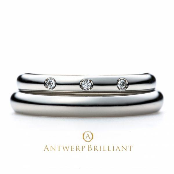銀座で人気のダイヤモンドが美しい上品な結婚指輪