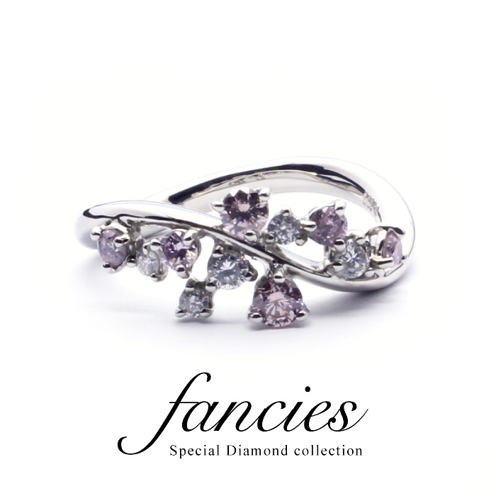 Fancy Magic Pink Diamond Ring