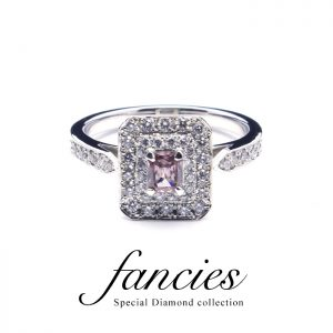 Step Cut Pink Diamond Ring