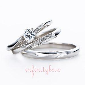 ダイヤモンドラインが可愛い婚約指輪と結婚指輪はブリッジ銀座店
