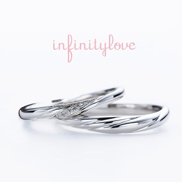 ウェーブが可愛いプラチナの結婚指輪ジャスミン