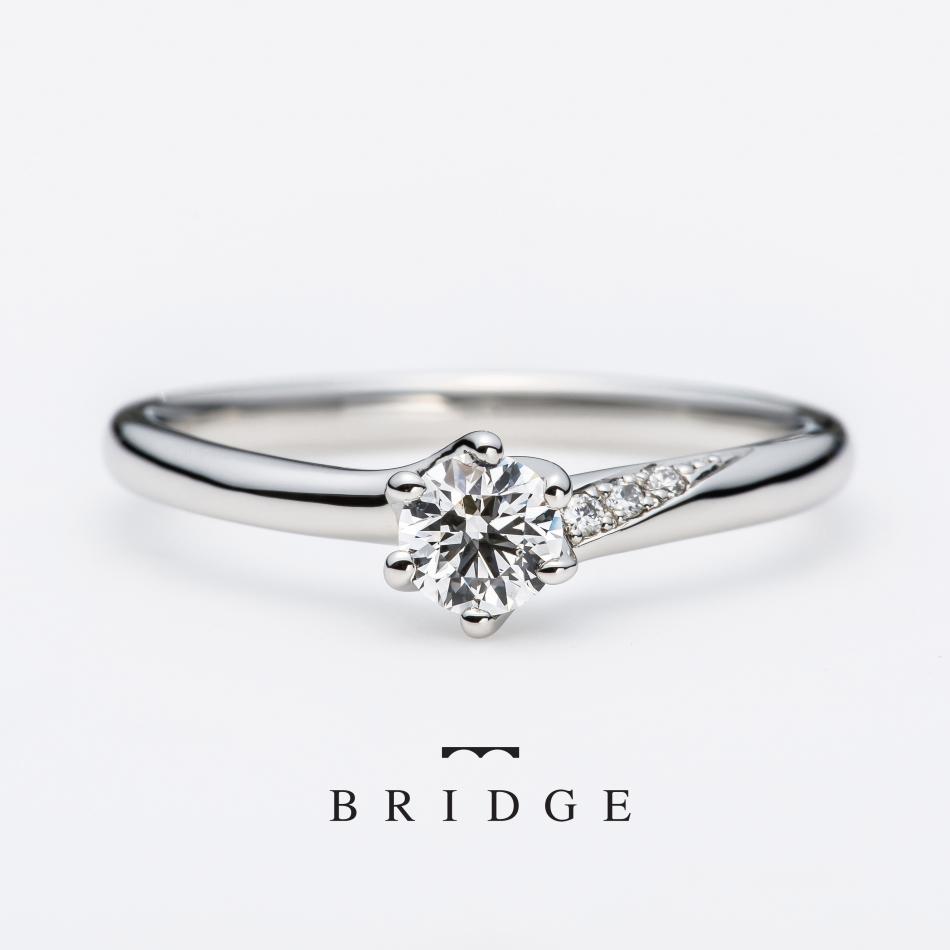 天然のヴァージンダイヤモンドでつくる プラチナ シンプル 婚約指輪