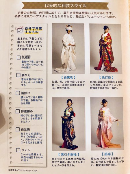 代表的な和装のスタイルです。ドレスとはまた違う良さがありますね。