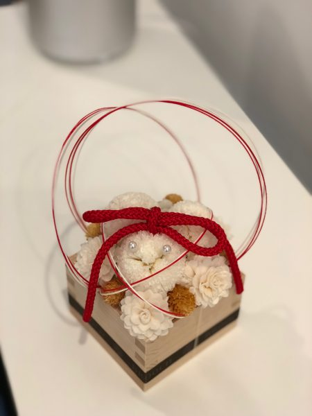 桝のデザインの和なテイストのリングピローです。ますますの幸せを願って♪