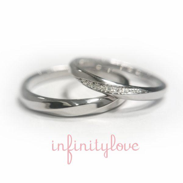 銀座でキラキラダイヤモンドの可愛い結婚指輪を見つける