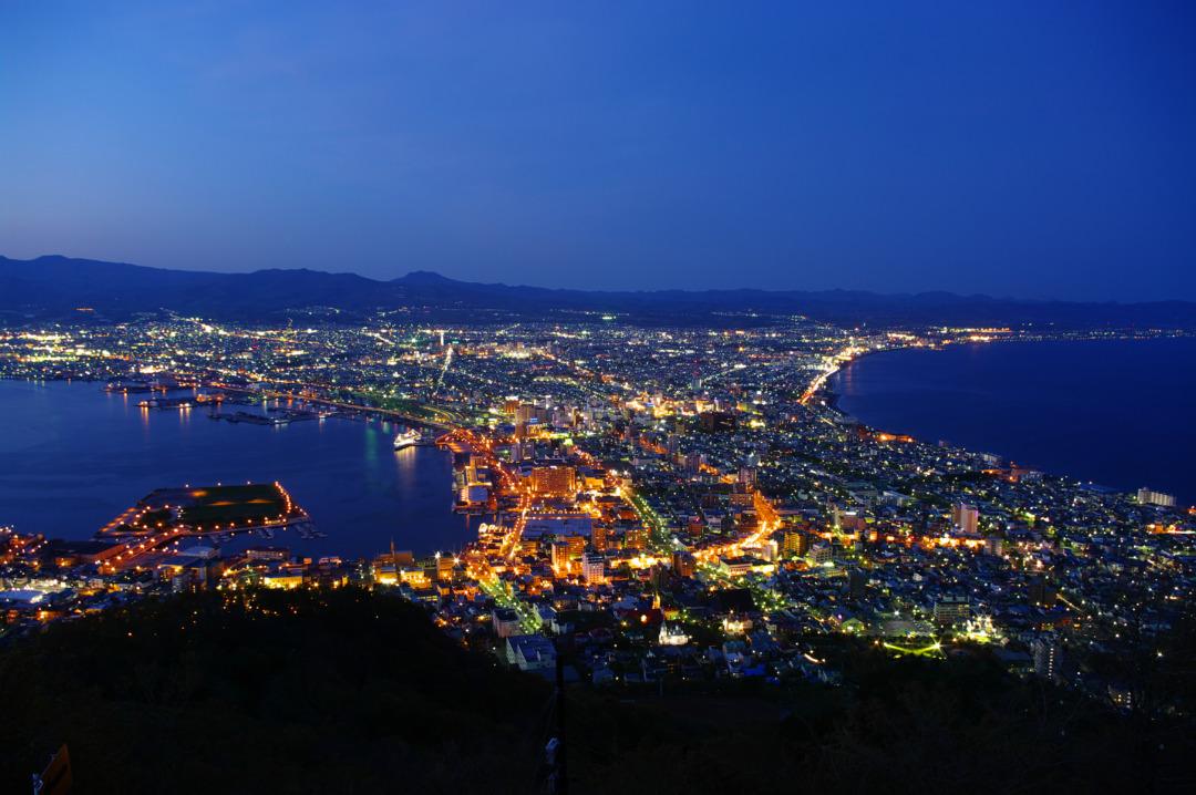 北海道函館山からの美しい景色