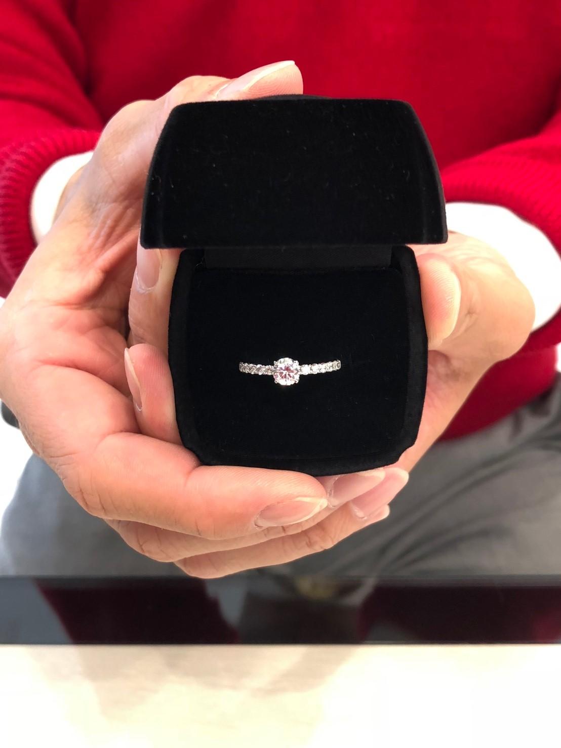 ダイヤモンドの輝きが一番美しかったです。