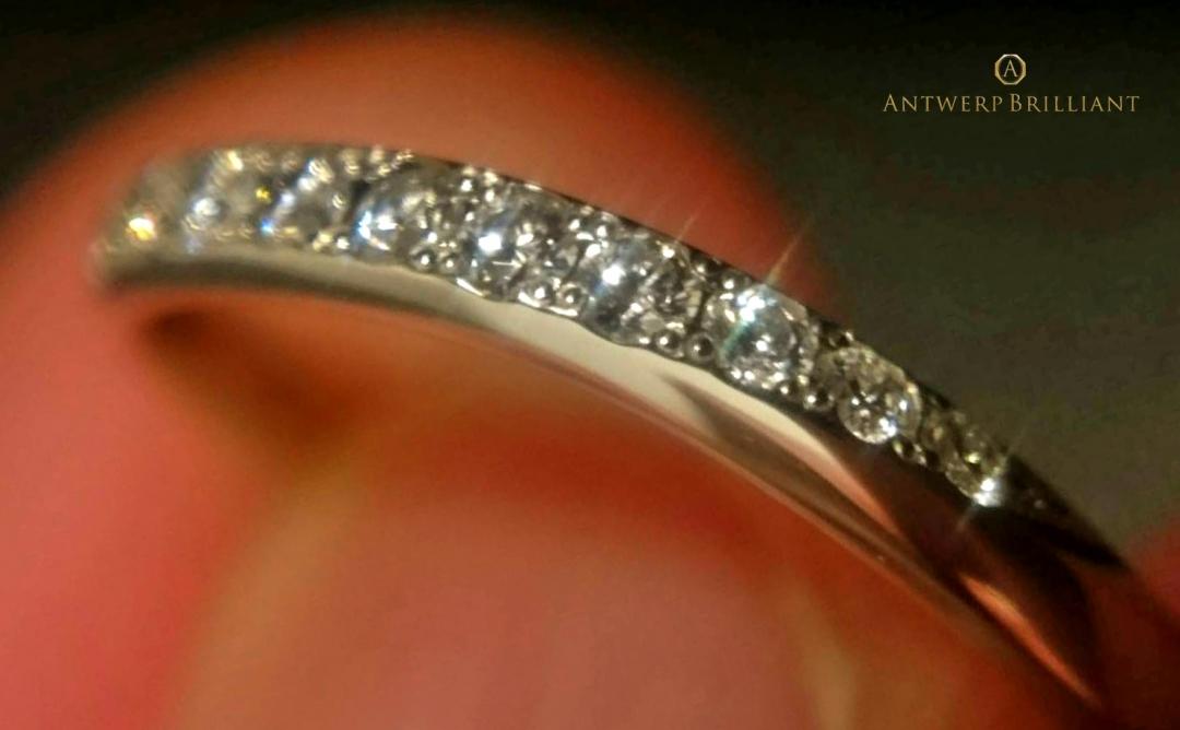 繊細なダイヤモンドセッティング「クラウン留め」は超硬プラチナ950がおススメ