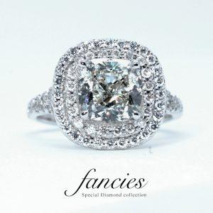 Double Helo Diamond Ring