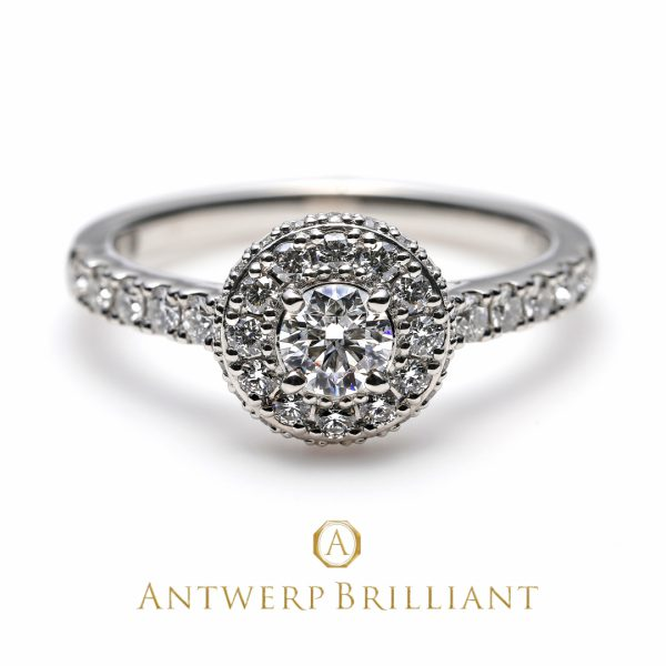 銀座で人気のヘイローデザイン婚約指輪 スターレイ