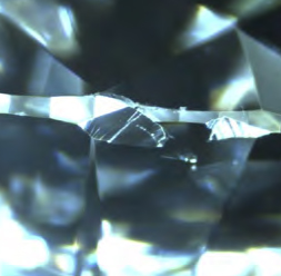 チップはダイヤモンド表面にある小さなかけ
