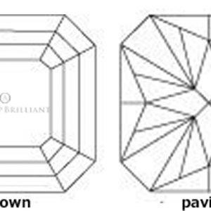 バリオンカットはステップカットに放射線面を付けた最初のダイヤモンド